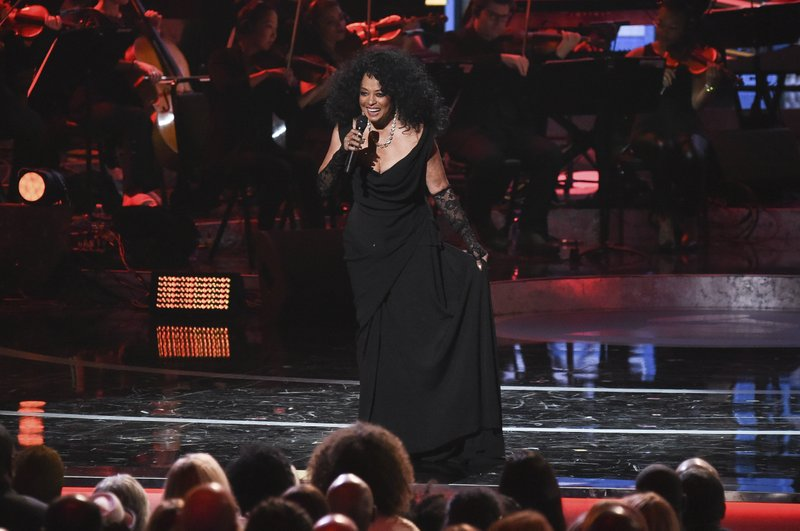 FILE - In this Feb. 12, 2019 file photo, Diana Ross performs during Motown 60: A GRAMMY Celebration at the Microsoft Theater in Los Angeles. (Photo by Richard Shotwell/Invision/AP, File)