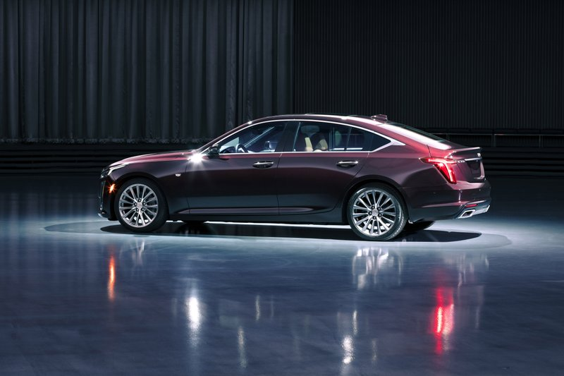 This undated product image provided by Cadillac shows the 2020 CT5 sedan. With the CT5, Caddy takes another shot at the compact luxury market where the ATS fizzled against the BMW 3 Series, Mercedes C Class and others. (Cadillac via AP)