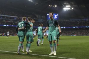 Tottenham stuns Man City to reach Champions League semis