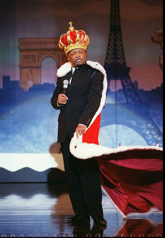 FILE - In this June 7, 1999, file photo, San Francisco Mayor Willie Brown sweeps onto stage at the Herbst Theatre and proclaims June as