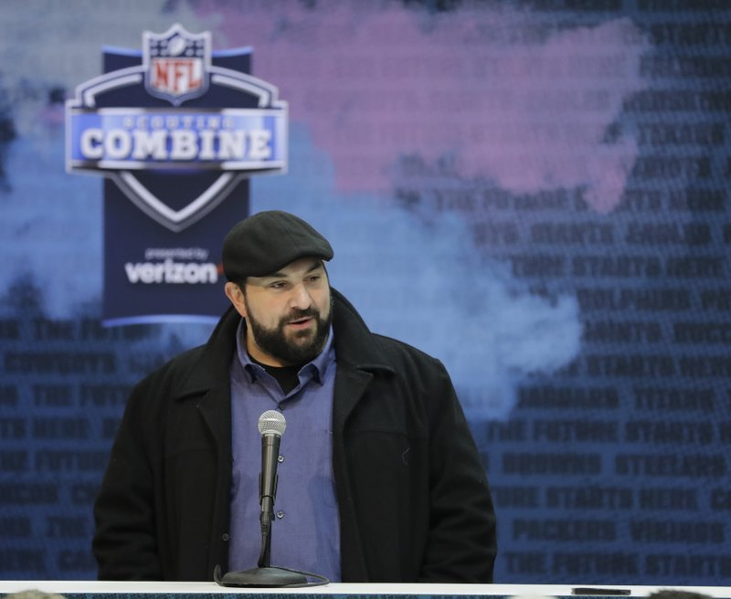 FILE - In this Feb. 27, 2019, file photo, Detroit Lions head coach Matt Patricia speaks during a press conference at the NFL football scouting combine, in Indianapolis. (AP Photo/Darron Cummings, File)