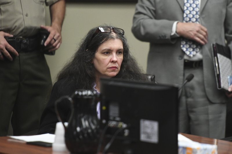 Louise Turpin sits in a courtroom during a sentencing hearing Friday, April 19, 2019, in Riverside, Calif. (Will Lester/The Orange County Register via AP, Pool)