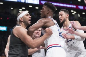 Butler, Dudley tossed after Embiid's foul in 76ers-Nets game