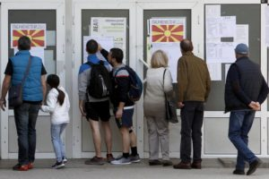 Renamed nation has 1st presidential vote as North Macedonia