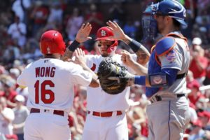 Syndergaard battered despite gift homer, Cards top Mets 6-4