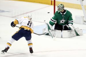 Bishop now the Stars goalie trying to beat Blues in playoffs