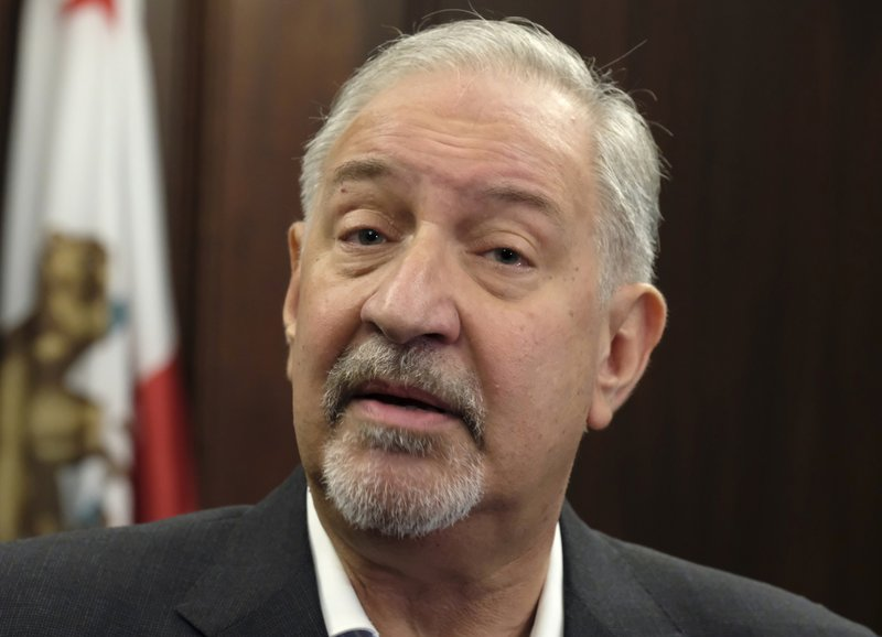 FILE - This Sept. 2, 2016 file photo shows attorney Mark Geragos talking to the media during a news conference in downtown Los Angeles. (AP Photo/Richard Vogel, File)
