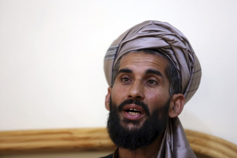 In this Tuesday, April 23, 2019, photo, Masih Rahman speaks during an interview with the Associated Press in Kabul, Afghanistan. (AP Photo/Rahmat Gul)