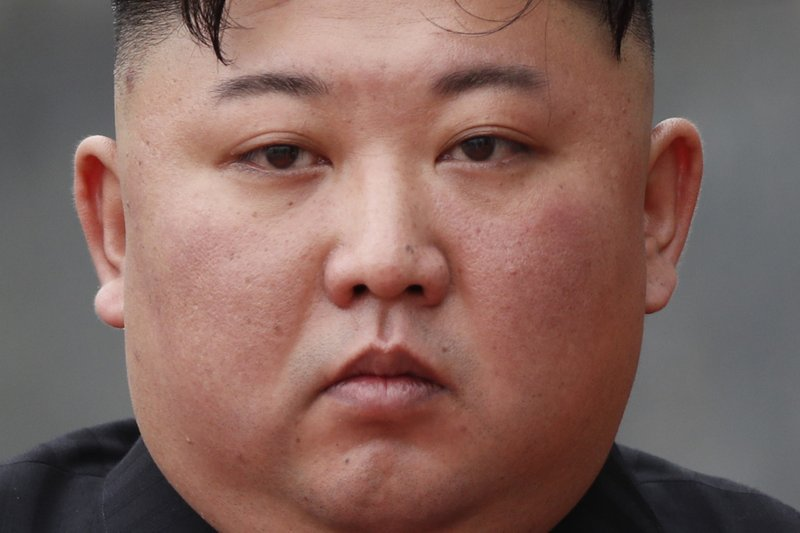 FILE - In this March 2, 2019 file photo, North Korean leader Kim Jong Un attends a wreath laying ceremony at the Ho Chi Minh Mausoleum in Hanoi, Vietnam. (Jorge Silva/Pool Photo via AP, File)