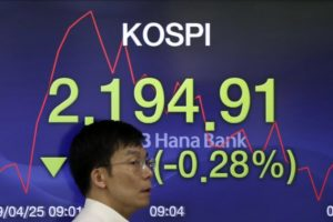 Asian shares mixed after US stocks retreat from record highs