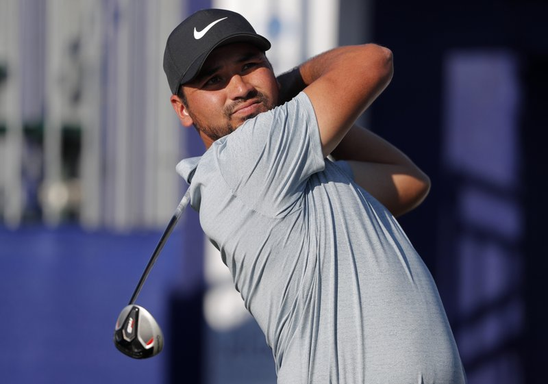 Jason Day of Australia hits off the first tee during the first round of the PGA Zurich Classic golf tournament at TPC Louisiana in Avondale, La. (AP Photo/Gerald Herbert)