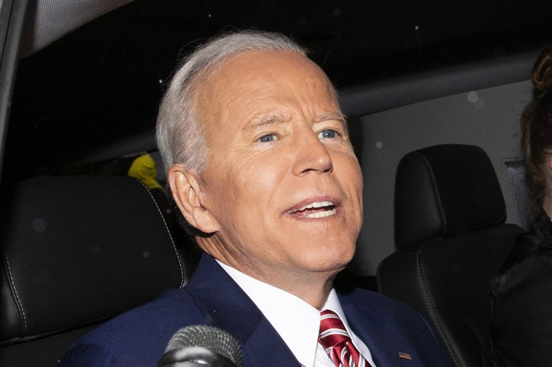 Former Vice President and Democratic presidential candidate Joe Biden is shown after appearing on ABC's