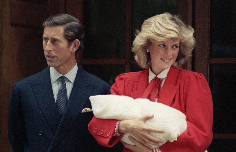 FILE - In this Sept. 16, 1984 file photo, the Prince and Princess of Wales, Prince Charles and Princess Diana leave St. (AP Photo, File)