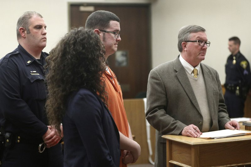 Brian Colaneri appears in court with his attorney, Jon Griffin, in Rochester, N.Y., on Thursday, March 7, 2019. (Jamie Germano/Democrat & Chronicle via AP, Pool)