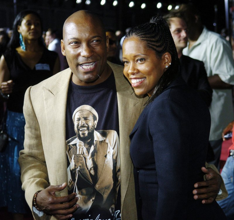FILE - This July 20, 2005 file photo shows John Singleton, left, a producer for the film