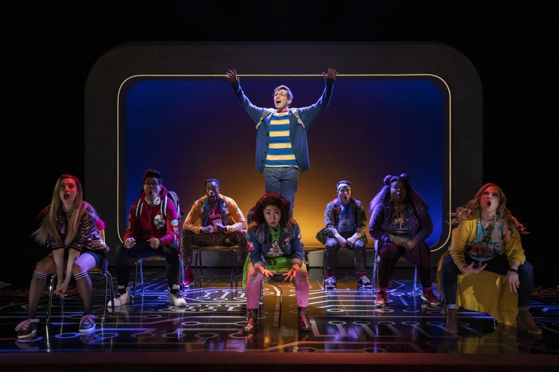 This image released by Boneau/Bryan-Brown shows the cast during a performance of the musical