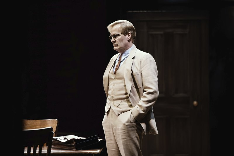 This image released by DKC/O&M shows Jeff Daniels during a performance of Harper Lee's To Kill A Mockingbird.  The Tony Award nominations will be announced Tuesday.  (Julieta Cervantes/DKC/O&M via AP)