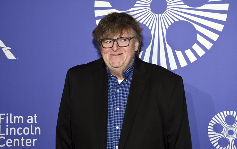 Filmmaker Michael Moore attends the Film Society of Lincoln Center's 50th anniversary gala at Alice Tully Hall on Monday, April 29, 2019, in New York. (Photo by Evan Agostini/Invision/AP)