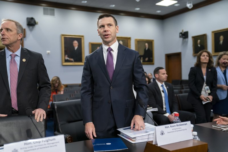 Acting-Homeland Security Secretary Kevin McAleenan prepares for a House Appropriations subcommittee hearing on his agency's future funding, on Capitol Hill in Washington, Tuesday, April 30, 2019. McAleenan, who is also the commissioner of U.S. Customs and Border Protection, was directed Monday by President Donald Trump to take additional measures to overhaul the asylum system, which he insists