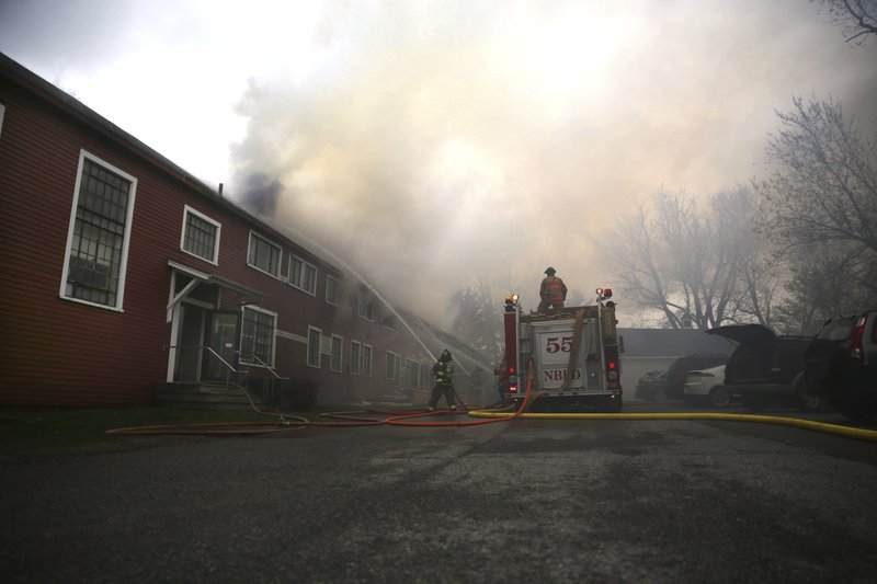 Shaftsbury and North Bennington fire crews fight a blaze at