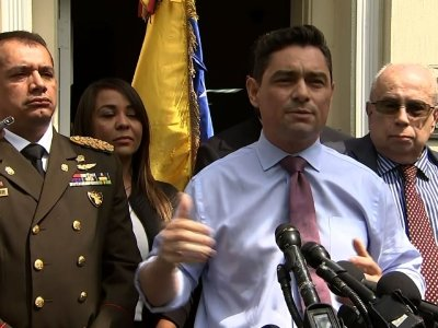 Venezuelan opposition's envoy to the United States says the current uprising happening on the streets of his country, are not a 'coup,' but a push to