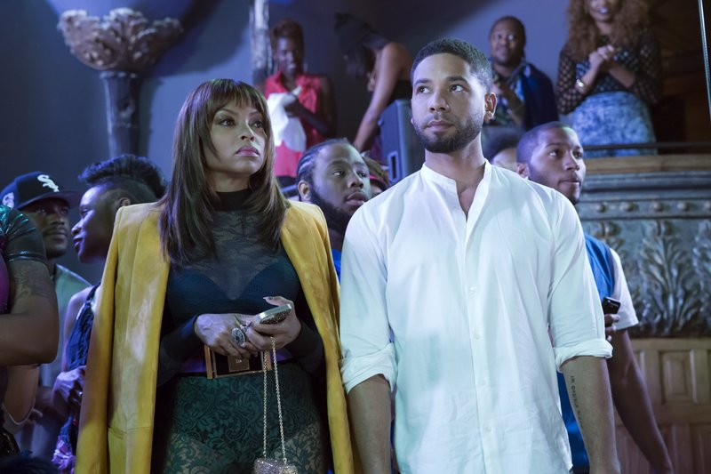 This photo provided by Fox shows, Taraji P. Henson, left, as Cookie Lyon and Jussie Smollett as Jamal Lyon in the