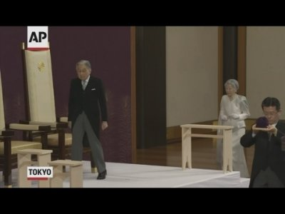 Emperor Akihito announces his abdication in his final address at a palace ceremony on Tuesday as Japan embraced the end of his reign with reminiscence and hope for a new era. (April 30)