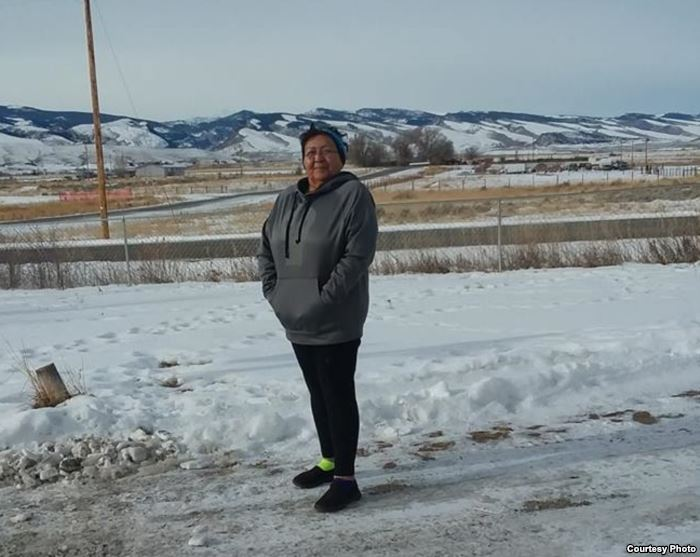Cathy Ute, Eastern Shoshone, whose cancer is today in remission. Photo taken
