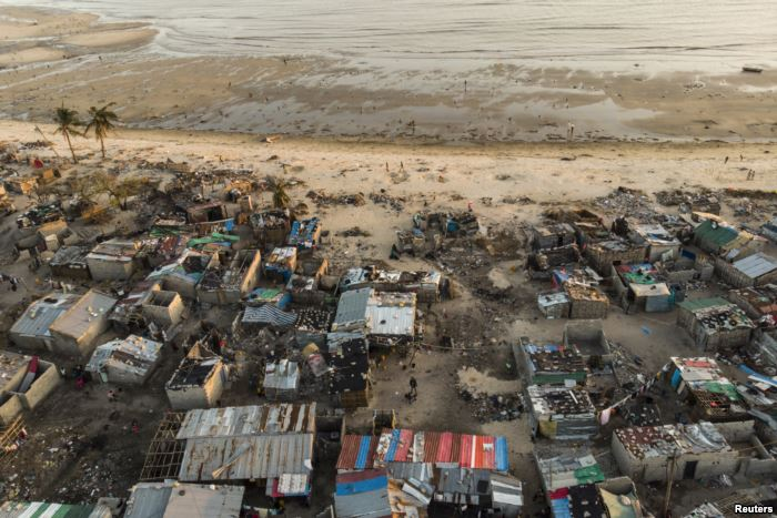 Debris and destroyed buildings are all that remain after Cyclone Idai hit the