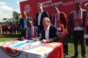 FC Bayern opens 1st African soccer school in Ethiopia