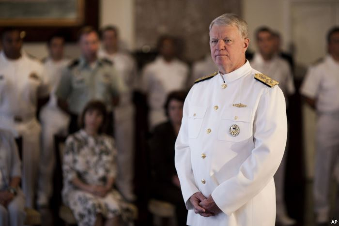 FILE - Retired U.S. Chief of Naval Operations Admiral Gary Roughead is seen i