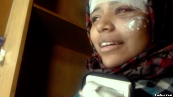 Hend Nafea is recovering from physical harm sustained at the hands of securit