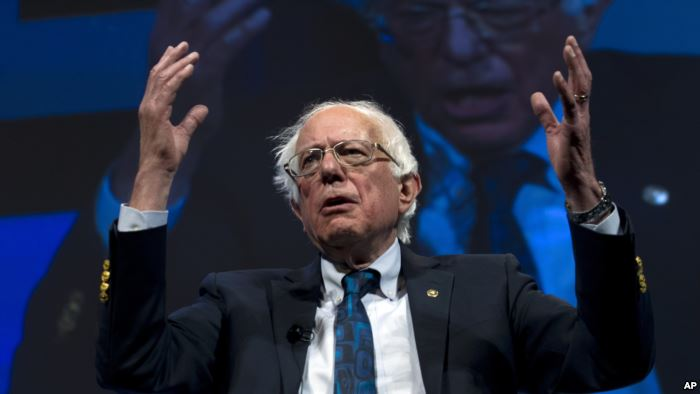 Independent presidential candidate Sen. Bernie Sanders, I-Vt., speaks during