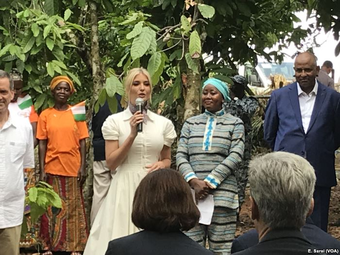 Ivanka Trump announced a $2 million investment in women in the Ivory Coast co