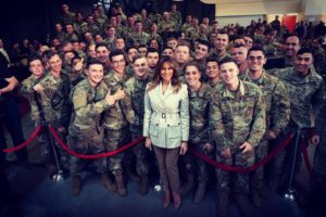 Melania Trump: 'I'm always so impressed by the capabilities of our Armed Forces'