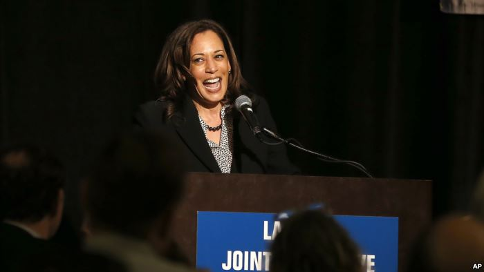 U.S. Sen. Kamala Harris, a candidate for the 2020 Democratic presidential nom