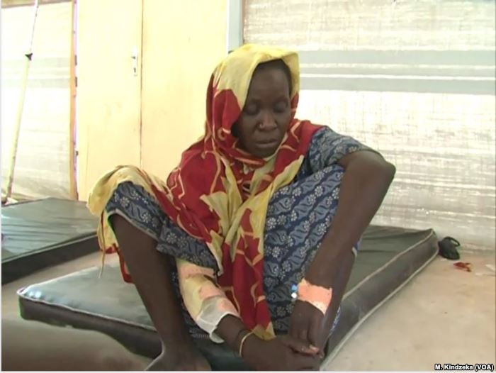 Victims of Boko Haram attack taken to Mora hospital, Cameroon, Apr. 20, 2019.