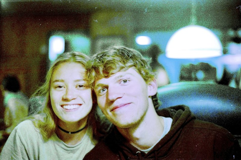 In this Sept. 1, 2017 photo provided by Matthew Westmoreland, Riley Howell, right, is seen. Authorities say Howell, 21, was killed after he tackled a gunman who opened fire in a classroom at the University of North Carolina-Charlotte. Police said a few students, including Howell, died and several others were injured. Charlotte-Mecklenburg Police Chief Kerr Putney said Howell's actions likely saved the lives of other students. (Matthew Westmoreland via AP)