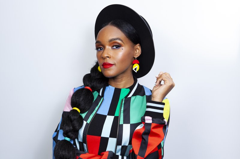 This April 15, 2019 photo shows actress-singer Janelle Monae posing for a portrait at the Four Seasons Hotel in Los Angeles to promote her animated film