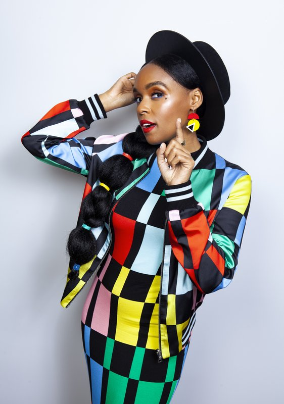 This April 15, 2019 photo shows singer and actress Janelle Monae posing for a portrait at the Four Seasons Hotel in Los Angeles to promote her animated film