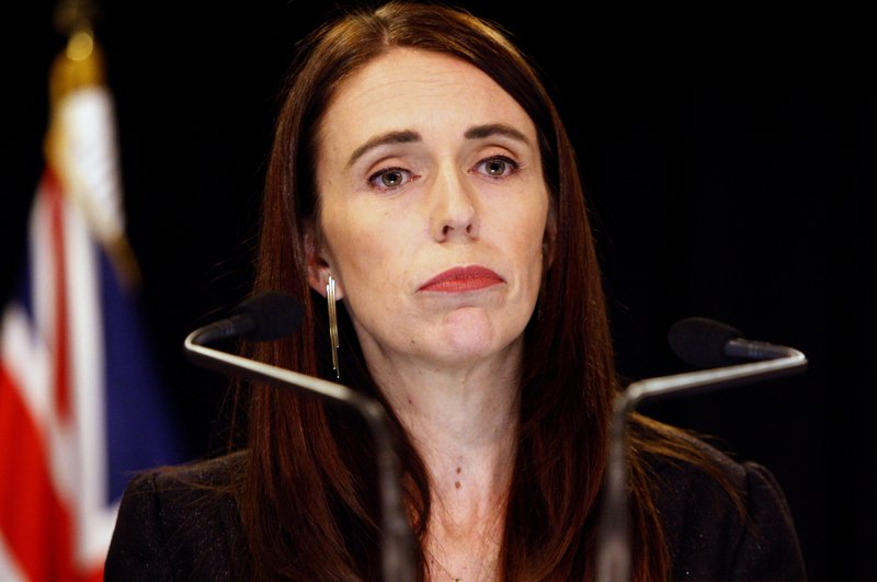 FILE - In this March 25, 2019, file photo, New Zealand Prime Minister Jacinda Ardern addresses a press conference in Wellington, New Zealand. The death toll from the Christchurch mosque attacks has risen to 51 after a Turkish man who had been hospitalized since a gunman opened fire on worshippers seven weeks ago died overnight, authorities in New Zealand and Turkey confirmed. New Zealand Prime Minister Jacinda Ardern said Friday, May 3, 2019 the sad news would be felt across both countries.  (AP Photo/Nick Perry, File)