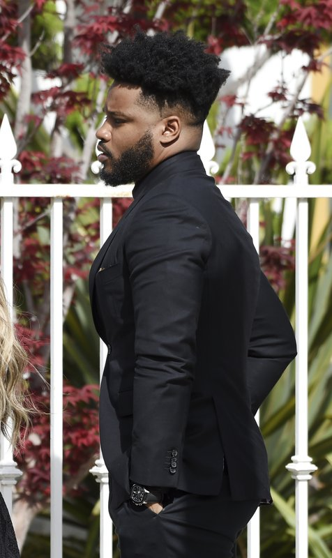 Director Ryan Coogler arrives at a memorial service for the late film director John Singleton at Angelus Funeral Home, Monday, May 6, 2019, in Los Angeles. (AP Photo/Chris Pizzello)