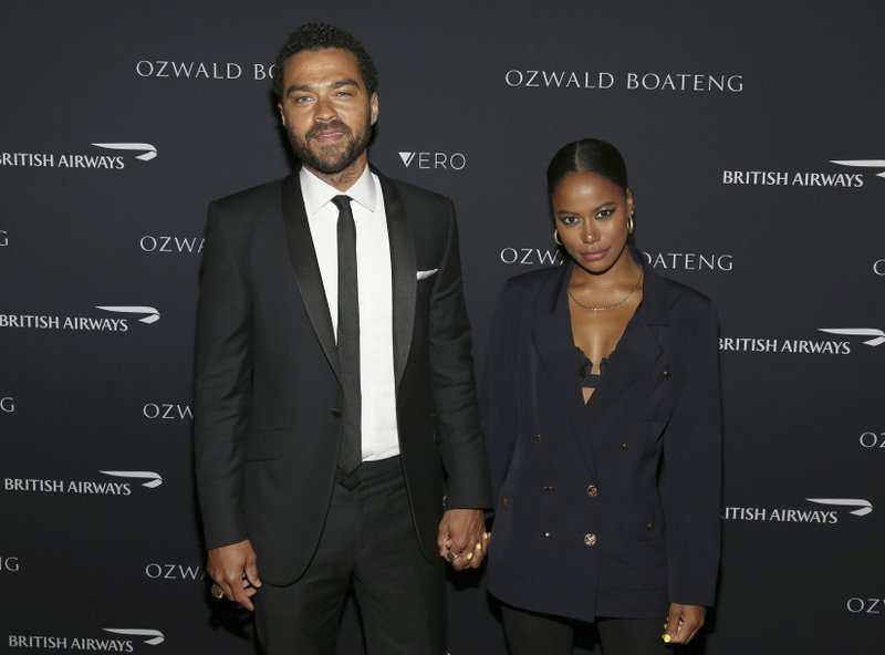 Actor Jessie Williams and Taylour Paige attend the Ozwald Boateng fashion show at the Apollo Theater on Sunday, May 5, 2019, in New York. (Photo by Donald Traill/Invision/AP)