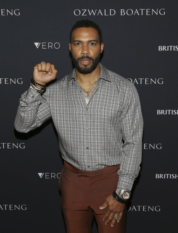 Actor Omari Hardwick attends the Ozwald Boateng fashion show at the Apollo Theater on Sunday, May 5, 2019, in New York. (Photo by Donald Traill/Invision/AP)