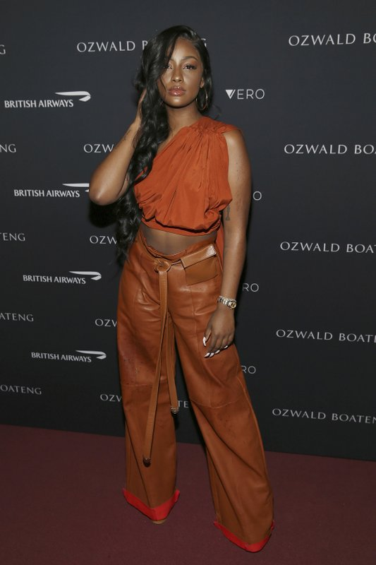 Singer Justine Skye attends the Ozwald Boateng fashion show at the Apollo Theater on Sunday, May 5, 2019, in New York. (Photo by Donald Traill/Invision/AP)