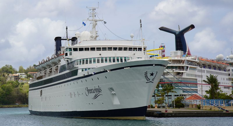 The Freewinds cruise ship is docked in the port of Castries, the capital of St. (AP Photo/Bradley Lacan)