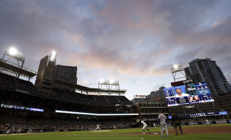 San Diego Padres starting pitcher Chris Paddack works against a New York Mets batter during the second inning of a baseball game Monday, May 6, 2019, in San Diego. (AP Photo/Gregory Bull)