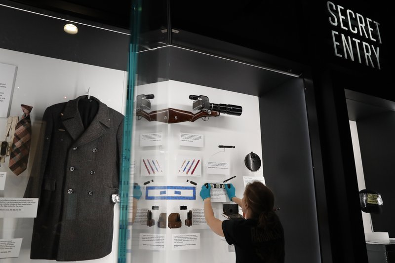 Exhibits are installed in the new International Spy Museum, Tuesday April 30, 2019, in Washington. (AP Photo/Jacquelyn Martin)