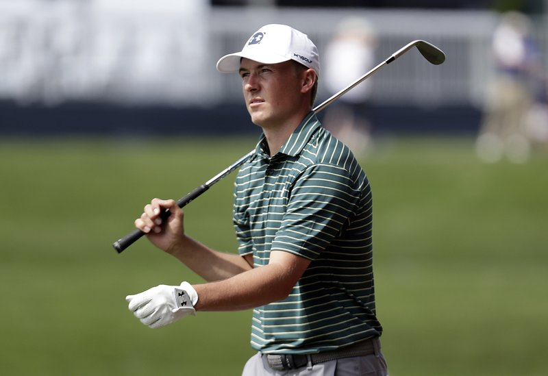 FILE - In this Wednesday, March 13, 2019, file photo, Jordan Spieth walks down the 15th fairway during a practice round of The Players Championship golf tournament, in Ponte Vedra Beach, Fla. (AP Photo/Lynne Sladky, File)