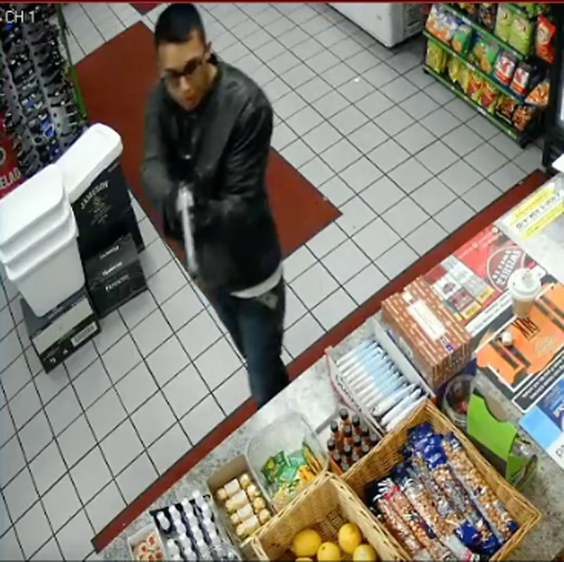 FILE - This Tuesday, May 7, 2019, file photo taken from surveillance video, released by the Downey, Calif. (Downey Police Department via AP)